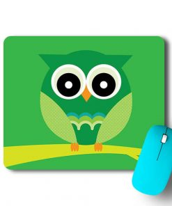 Green Owl Mouse Pad - CoversGap
