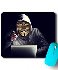 Hacker Face Mouse Pad - CoversGap