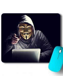 Hacker Face Mouse Pad - CoversGap