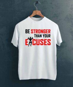 Be Stronger Gym T shirt on Hanger