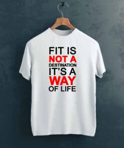 Fit Life Gym T shirt on Hanger