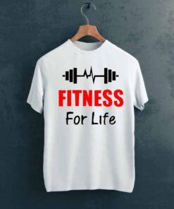 For Life Gym T shirt on Hanger