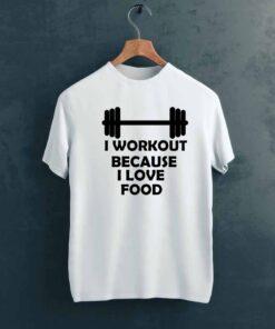 I Workout Gym T shirt on Hanger