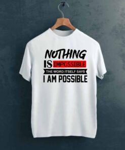 I am Possible Gym T shirt on Hanger