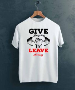 Leave Nothing Gym T shirt on Hanger