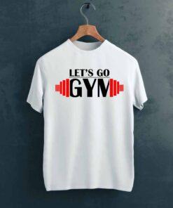 Lets Go Gym T shirt on Hanger