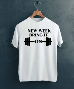 New Week Gym T shirt on Hanger