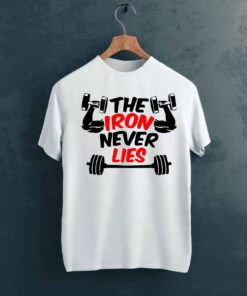 The Iron Gym T shirt on Hanger