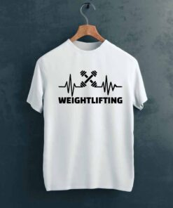 WeightLifting Gym T shirt on Hanger