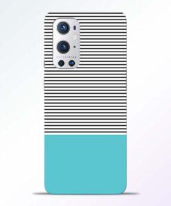 Black Blue Stripes Oneplus 9 Pro Back Cover