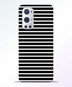Black Stripe Art Oneplus 9 Pro Back Cover