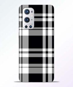 Black White Check Oneplus 9 Pro Back Cover