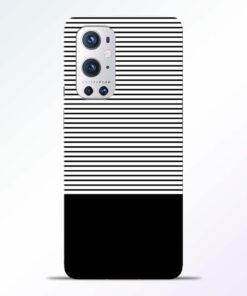 Black White Stripe Oneplus 9 Pro Back Cover