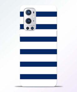 Blue Stripe Art Oneplus 9 Pro Back Cover