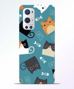 Cat Love Oneplus 9 Pro Back Cover