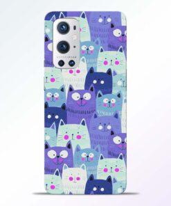 Cute Cat Print Oneplus 9 Pro Back Cover