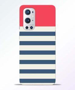 Light Blue Stripe Oneplus 9 Pro Back Cover