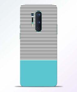 Black Blue Stripes Oneplus 8 Pro Back Cover