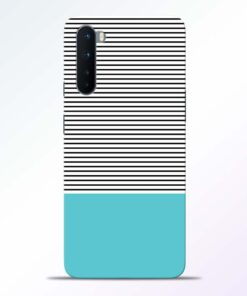 Black Blue Stripes Oneplus Nord Back Cover