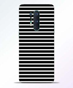 Black Stripe Art Oneplus 8 Pro Back Cover