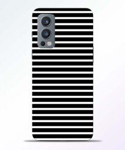 Black Stripe Art Oneplus Nord 2 Back Cover