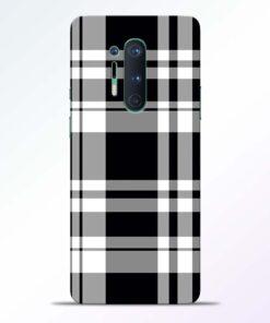 Black White Check Oneplus 8 Pro Back Cover