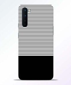 Black White Stripe Oneplus Nord Back Cover