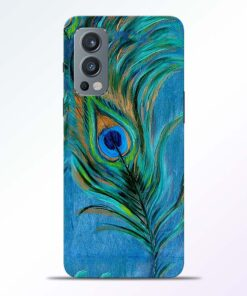 Blue Peacock Art Oneplus Nord 2 Back Cover