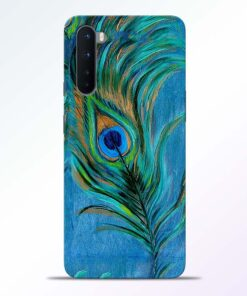 Blue Peacock Art Oneplus Nord Back Cover