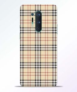 Burberry Oneplus 8 Pro Back Cover