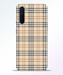 Burberry Oneplus Nord Back Cover