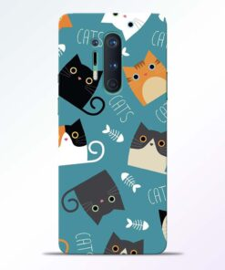 Cat Love Oneplus 8 Pro Back Cover