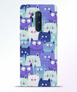 Cute Cat Print Oneplus 8 Pro Back Cover