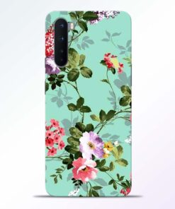 Cute Green Flower Oneplus Nord Back Cover