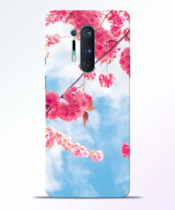 Cute Pink Flower Oneplus 8 Pro Back Cover