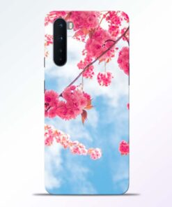 Cute Pink Flower Oneplus Nord Back Cover