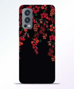 Cute Red Flower Oneplus Nord 2 Back Cover