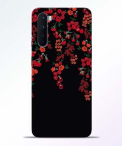 Cute Red Flower Oneplus Nord Back Cover