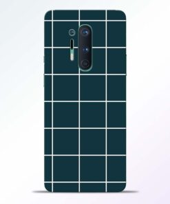 Dark Blue Check Oneplus 8 Pro Back Cover