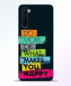 Do More Of Quotes Oneplus Nord Back Cover