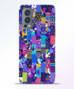Flowers Print Oneplus Nord 2 Back Cover