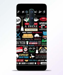 Friends Sticker Oneplus 8 Pro Back Cover