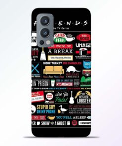 Friends Sticker Oneplus Nord 2 Back Cover