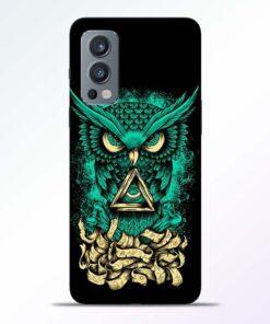 Funkey Green Owl Oneplus Nord 2 Back Cover