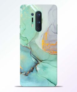 Funky Blue Green Oneplus 8 Pro Back Cover