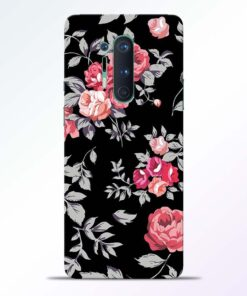 Funky Roses Flower Oneplus 8 Pro Back Cover