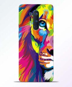Half Lion Multicolor Oneplus 8 Pro Back Cover