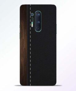Leather Grey Pattern Oneplus 8 Pro Back Cover