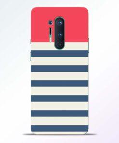 Light Blue Stripe Oneplus 8 Pro Back Cover