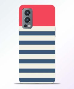 Light Blue Stripe Oneplus Nord 2 Back Cover